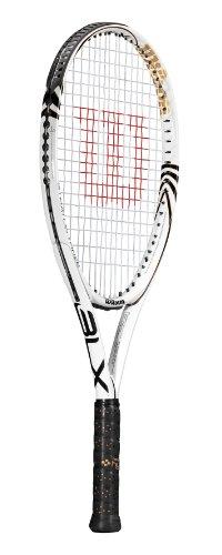 Wilson Tennisschläger Stratus Three BLX, weiß/schwarz/Gold, L2, RWT70370U