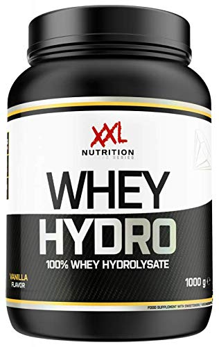 XXL Nutrition Whey Hydro | 100% Hydrolysat Eiweißpulver | Vanille 1000g