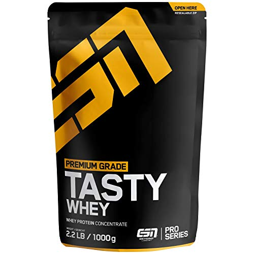 ESN Tasty Whey Protein – 1000g – Vanilla (Classic) – Molkenproteinkonzentrat reich an EAAs und BCAAs – Instant – 33 Portionen – Made in Germany