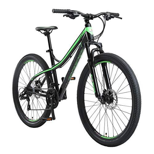 BIKESTAR Hardtail Aluminium Mountainbike Shimano 21 Gang Schaltung, Scheibenbremse 27.5 Zoll Reifen | 17 Zoll Rahmen Alu MTB | Schwarz & Grün