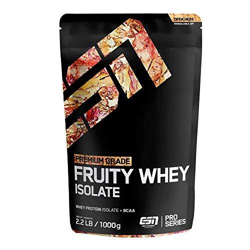 ESN Fruity Whey Isolate – 1000g – Tropical Punch – Fruchtiges Proteinpulver reich an EAAs und BCAAs – praktisch laktose- & fettfrei – 33 Portionen – Made in Germany