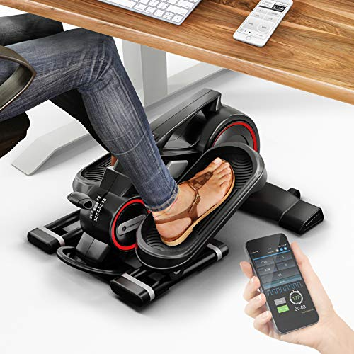 MesseNeuheit 2020! Mini Heimtrainer mit App, Stepper DFX100 Crosstrainer für Bewegung im Büro Alltag & zuhause, Arbeitsplatz Gesundheit, kein höhenverstellbarer Schreibtisch nötig Bein & Pedaltrainer