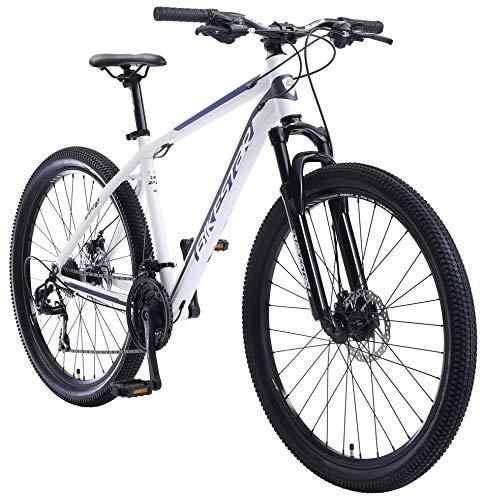 BIKESTAR Hardtail Aluminium Mountainbike Shimano 21 Gang Schaltung, Scheibenbremse 27.5 Zoll Reifen   18 Zoll Rahmen Alu MTB   Weiß