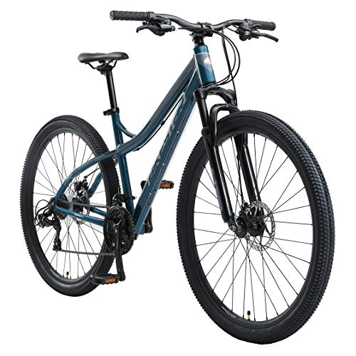 BIKESTAR Hardtail Aluminium Mountainbike Shimano 21 Gang Schaltung, Scheibenbremse 29 Zoll Reifen   18 Zoll Rahmen Alu MTB   Blau & Grau