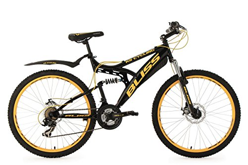 KS Cycling Mountainbike Fully 26'' Bliss schwarz-gelb RH 47 cm