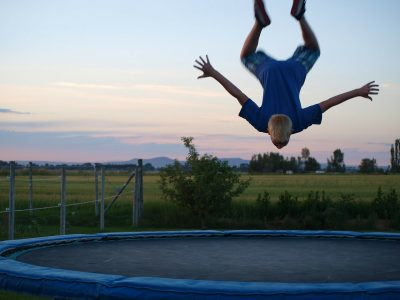 Fit durch Trampolin