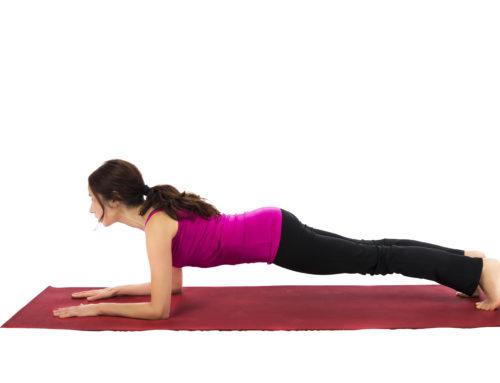 Yoga-Übungen – Das Brett