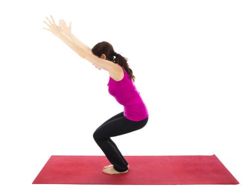 Yoga-Übungen – Der Stuhl