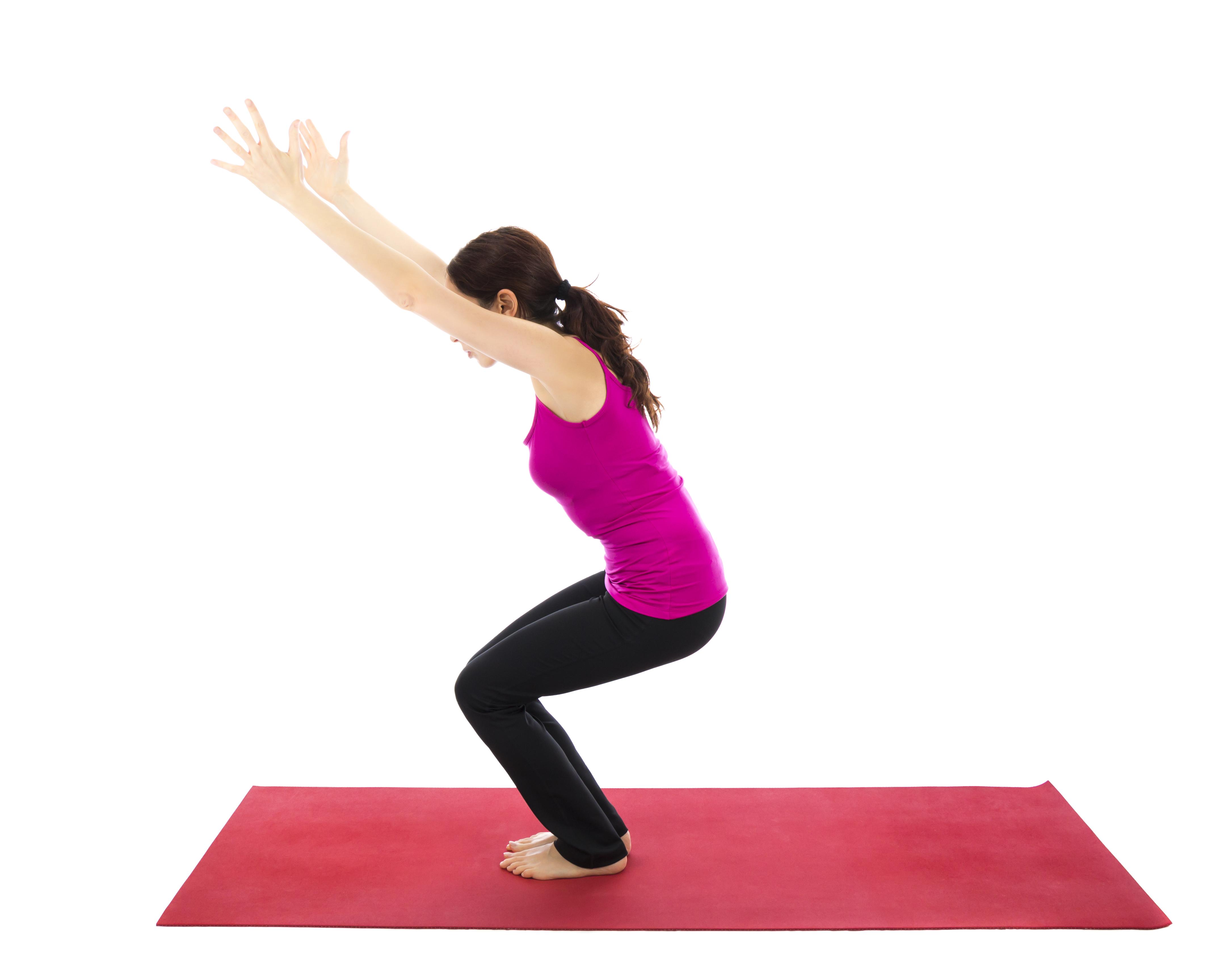 Yoga-Übung - Der Stuhl