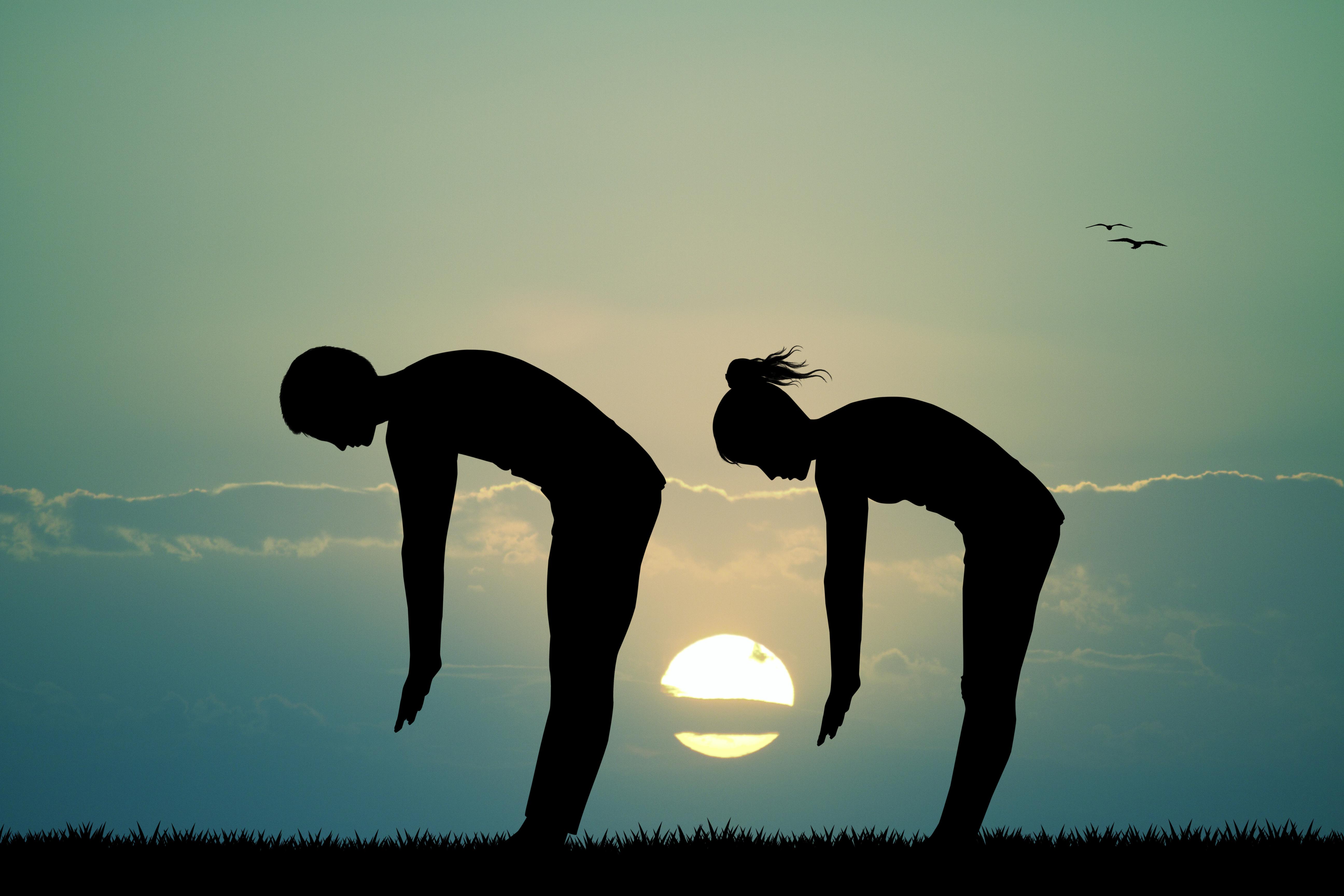 Yoga Übung die Vorbeuge